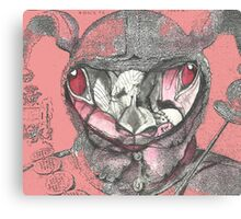 Rabbit on a Fools Cap Map  Canvas Print