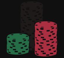 Poker Roulette chips gambling One Piece - Short Sleeve