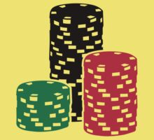 Poker Roulette chips gambling Kids Clothes