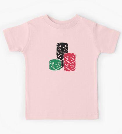 Poker Roulette chips gambling Kids Tee