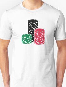 Poker Roulette chips gambling T-Shirt