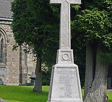 War Memorial in St Mary's Churchyard, Crich by Rod Johnson