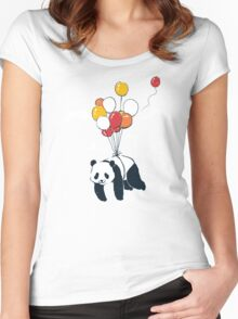 Flying Panda Women's Fitted Scoop T-Shirt