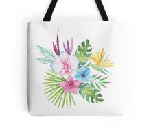 Tropical Vintage Floral Bouquet Tote Bag