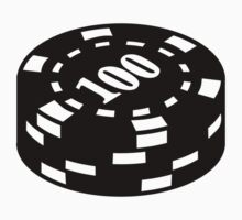 Poker chips 100 One Piece - Short Sleeve