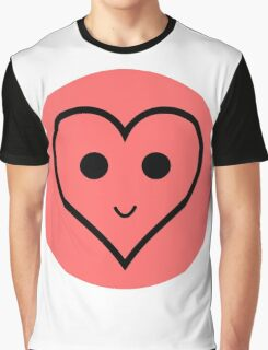 SMILEY HEART Graphic T-Shirt
