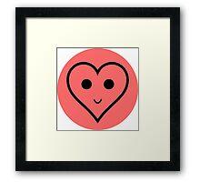 SMILEY HEART Framed Print