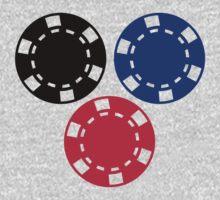 Poker chips gambling Kids Tee