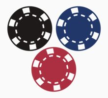 Poker chips gambling by Designzz