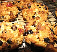 Rock Cakes Hot From The Oven by kathrynsgallery