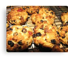 Rock Cakes Hot From The Oven Canvas Print