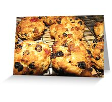 Rock Cakes Hot From The Oven Greeting Card