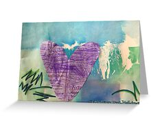 Hearts Aflame - by Nadia Greeting Card