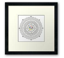 coloured centre mandala Framed Print
