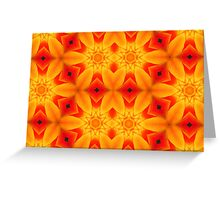 Kaleidoscope Geometry Pattern From Nature 32 Greeting Card