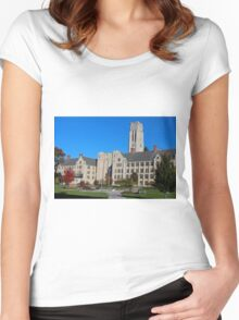 University of Toledo- Campus Mall Side II Women's Fitted Scoop T-Shirt