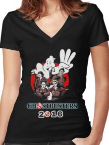 Ghostbusters 2016 T-SHIRT  Women's Fitted V-Neck T-Shirt