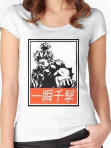 Akuma Raging Demon Obey Design Women's Fitted Scoop T-Shirt