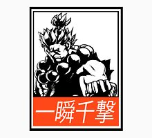 Akuma Raging Demon Obey Design Men's Baseball ¾ T-Shirt