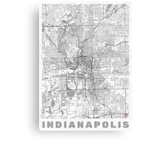 Indianapolis Map Line Canvas Print