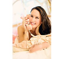 Woman talking on the phone Photographic Print