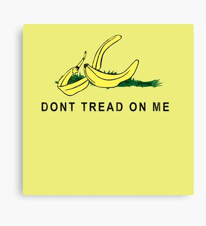 Vintage Banana Gadsen Flag Spoof Canvas Print