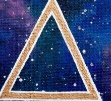 Bronze Symbology: Fantasy Galaxy Acrylic Painting Sticker