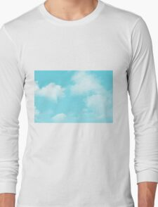 aqua blue sky Long Sleeve T-Shirt