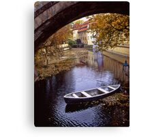A Backwater in Prague Canvas Print