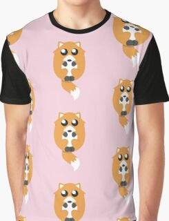 Super Cute Fox in Pink Graphic T-Shirt