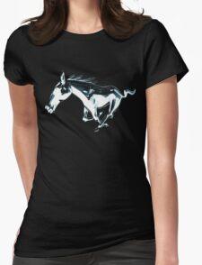 horse, mustang shirt Womens Fitted T-Shirt
