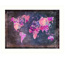 Map Of The World Vintage Art Print