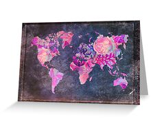 Map Of The World Vintage Greeting Card