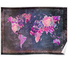 Map Of The World Vintage Poster