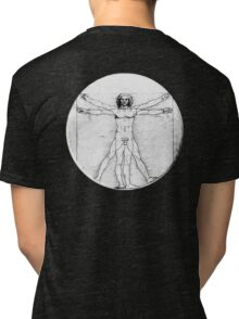LEONARDO, Da Vinci, The Vitruvian Man, Naked, CIRCLE, c.1485, Accademia, Venice, BLACK Tri-blend T-Shirt