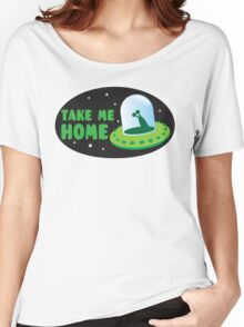 Take me HOME with cute Alien spacecraft Women's Relaxed Fit T-Shirt