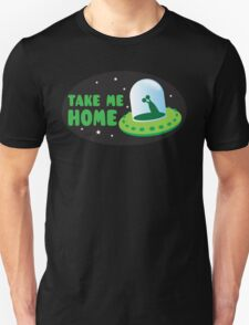 Take me HOME with cute Alien spacecraft Unisex T-Shirt