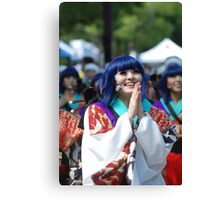 Japanese woman happy in the festival Canvas Print