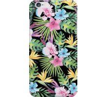 Tropical Vintage Floral on Black iPhone Case/Skin