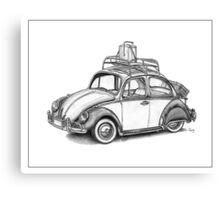 Volkswagen Beetle 60s - 'Signed'  Canvas Print