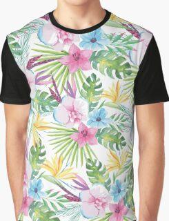 Tropical Vintage Floral Graphic T-Shirt