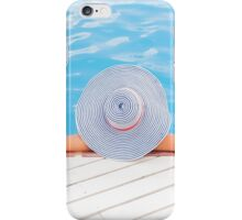 Relaxed woman in the pool iPhone Case/Skin