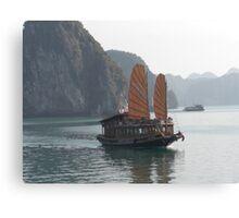 Boat on Halong Bay Canvas Print