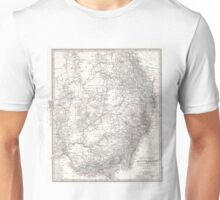 Vintage Map of Eastern Australia (1876) Unisex T-Shirt