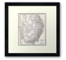 Vintage Map of Eastern Australia (1876) Framed Print
