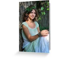 nymph Girl on nature Greeting Card