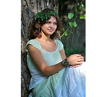nymph Girl on nature Photographic Print