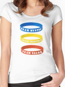 The Three Team Women's Fitted Scoop T-Shirt