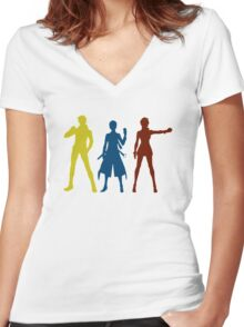 The Three Trainer Women's Fitted V-Neck T-Shirt