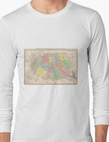 Vintage Map of Paris France (1878) Long Sleeve T-Shirt